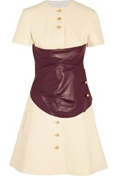 J.W.Anderson Leather Paneled Hemp Mini Dress White