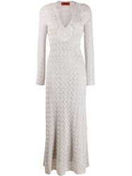 Missoni Long Textured Dress Neutrals