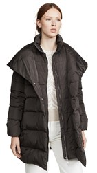 Add Down Hooded Coat Metal Grey