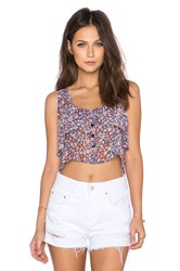 Bcbgeneration Flowy Button Up Top Blue