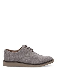Toms Lace Up Cotton Brogues Brown