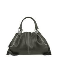 Buti Black Pebble Italian Leather Satchel Bag