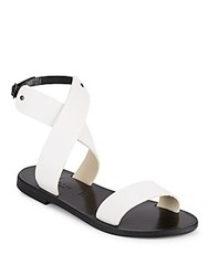 Joie A La Plage Ravenna Leather Sandals Black White