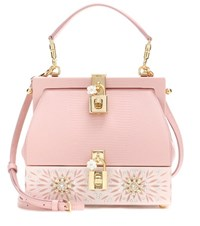 Dolce And Gabbana Retro Leather Clutch Pink