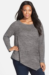 Eileen Fisher Cotton Mesh Boatneck Tunic Plus Size Ash