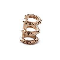 Kasun Croc Triple Ear Cuff Rose Gold