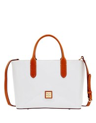 Dooney And Bourke Brielle Patent Leather Satchel White