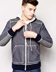Voi Jeans Hoodie With Contrast Shoulder Navy