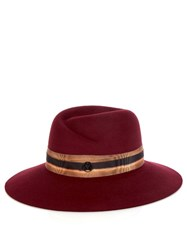 Maison Michel Virginie Wool Felt Hat Red