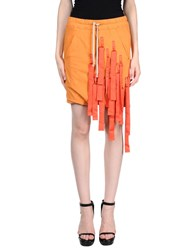 Rick Owens Drkshdw By Mini Skirts Orange