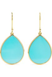 Ippolita Polished Rock Candy Mini 18 Karat Gold Turquoise Earrings One Size