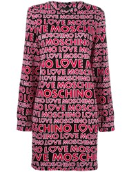 Love Moschino Logo Print Jumper Dress Black