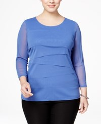 Alfani Plus Size Tiered Top Only At Macy's Pery Blue