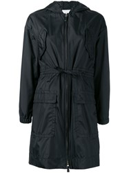 Agnona Hooded Raincoat Black