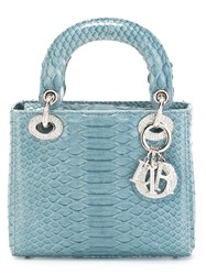 Christian Dior Vintage Small 'Lady Dior' Tote Blue
