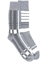 Thom Browne Plaid Jacquard Mid Calf Socks 60