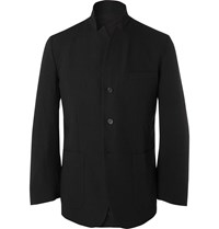 Sasquatchfabrix. Textured Wool Blend Blazer Black