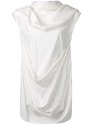 Rick Owens Draped Top White