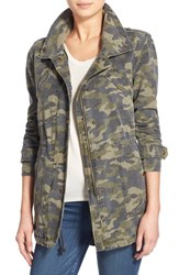 Women's Velvet By Graham And Spencer 'Army' Cotton Jacket Camo Multi