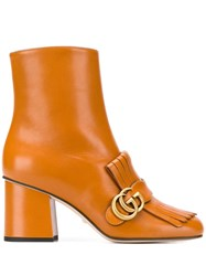 Gucci Marmont 70 Ankle Boots Brown