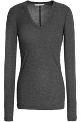 Duffy Ribbed Jersey Top Gray