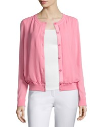 Lafayette 148 New York Long Sleeve Button Front Cardigan Primrose Women's