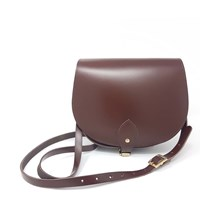 N'damus London Leather Saddle Bag In Oak Brown