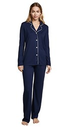 Bop Basics X Cosabella Long Pj Set Navy Moon Ivory