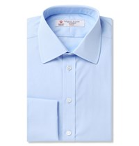 Turnbull And Asser Pink Double Cuff Cotton Shirt Blue