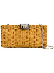 Rodo Woven Clutch Bag Nude And Neutrals