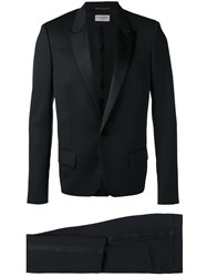 Saint Laurent Dinner Suit Silk Cotton Polyester Cashmere Black