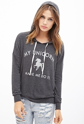 Forever 21 Unicorn Excuse Graphic Hoodie
