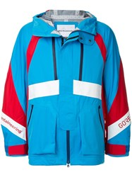 White Mountaineering Colour Block Windbreaker Jacket Blue