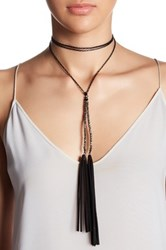 Stephan And Co Wraparound Chain Bead Necklace Gray