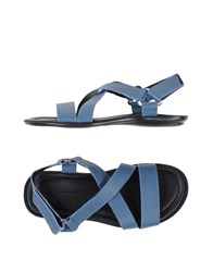 Doucal's Footwear Sandals Men Slate Blue