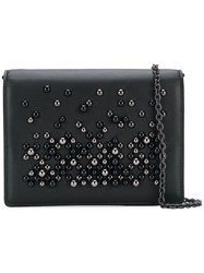 Bottega Veneta Embellished Foldover Bag Black