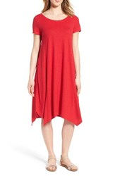 Eileen Fisher Women's Hemp And Organic Cotton Handkerchief Dress Cardinal