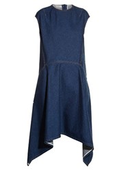 Balenciaga Cut Out Back Hem Denim Dress