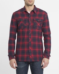 Eleven Paris Charcoal Plaid Check Shirt Grey