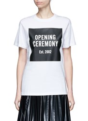Opening Ceremony 'Oc' Mirrored Logo T Shirt White