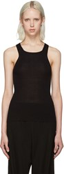 Calvin Klein Black Ribbed Tank Top