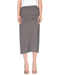Malloni Skirts 3 4 Length Skirts Women Grey