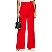 Lisa Perry Crepe Wide Leg Trousers Red