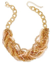 Thalia Sodi Chain Link Statement Necklace Only At Macy's Gold Peach