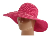 San Diego Hat Company Rbl205 Ribbon Crusher Hat With Ticking Sun Hat Fuchsia Traditional Hats Pink