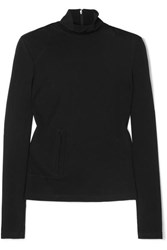 Commission Fanny Mesh Turtleneck Top Black