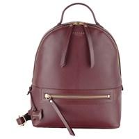 Radley Northcote Road Leather Medium Backpack Burgundy