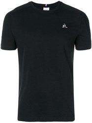 Le Coq Sportif Logo Embroidered T Shirt Black