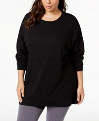 Soffe Curves Plus Size Long Sleeve T Shirt Black