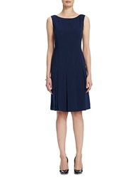 Jones New York Plus Plus Pleated Tank Dress Navy